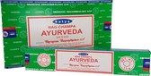 Wierookstokjes Satya Ayurveda (12 pakjes)