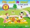 Afbeelding van het spelletje Bakermat Kartonboek He zoek je mee in het park. 2