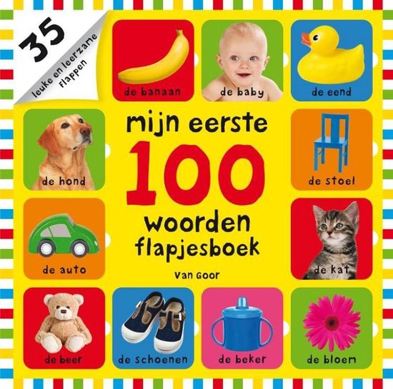 Boek cover Mijn eerste 100  -   Mijn eerste 100 woorden flapjesboek van Roger Priddy (Hardcover)