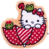 Knoopvormtapijt kit Hello Kitty in de paraplu - Vervaco - PN-0155205
