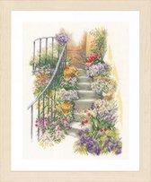 Telpakket kit Trap met bloemen  - Lanarte - PN-0169680