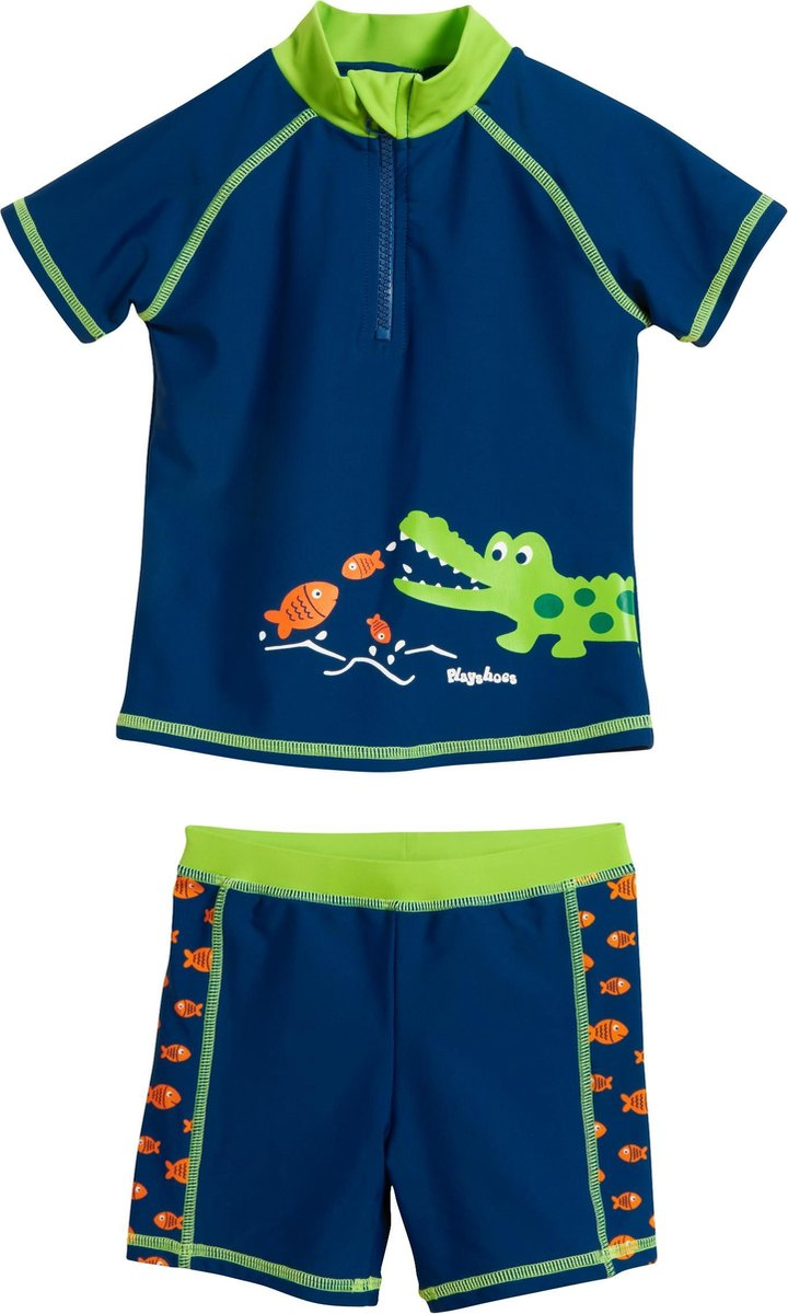 Playshoes UV zwemsetje Kinderen Krokodil - Blauw - Maat 86/92