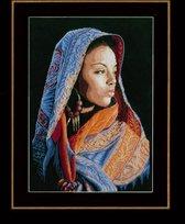 Telpakket kit Afrikaanse dame  - Lanarte - PN-0149998