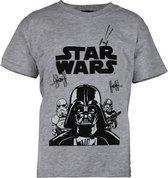 Star Wars Darth Vader - Jongens T-Shirt Grijs -7-8 Jaar
