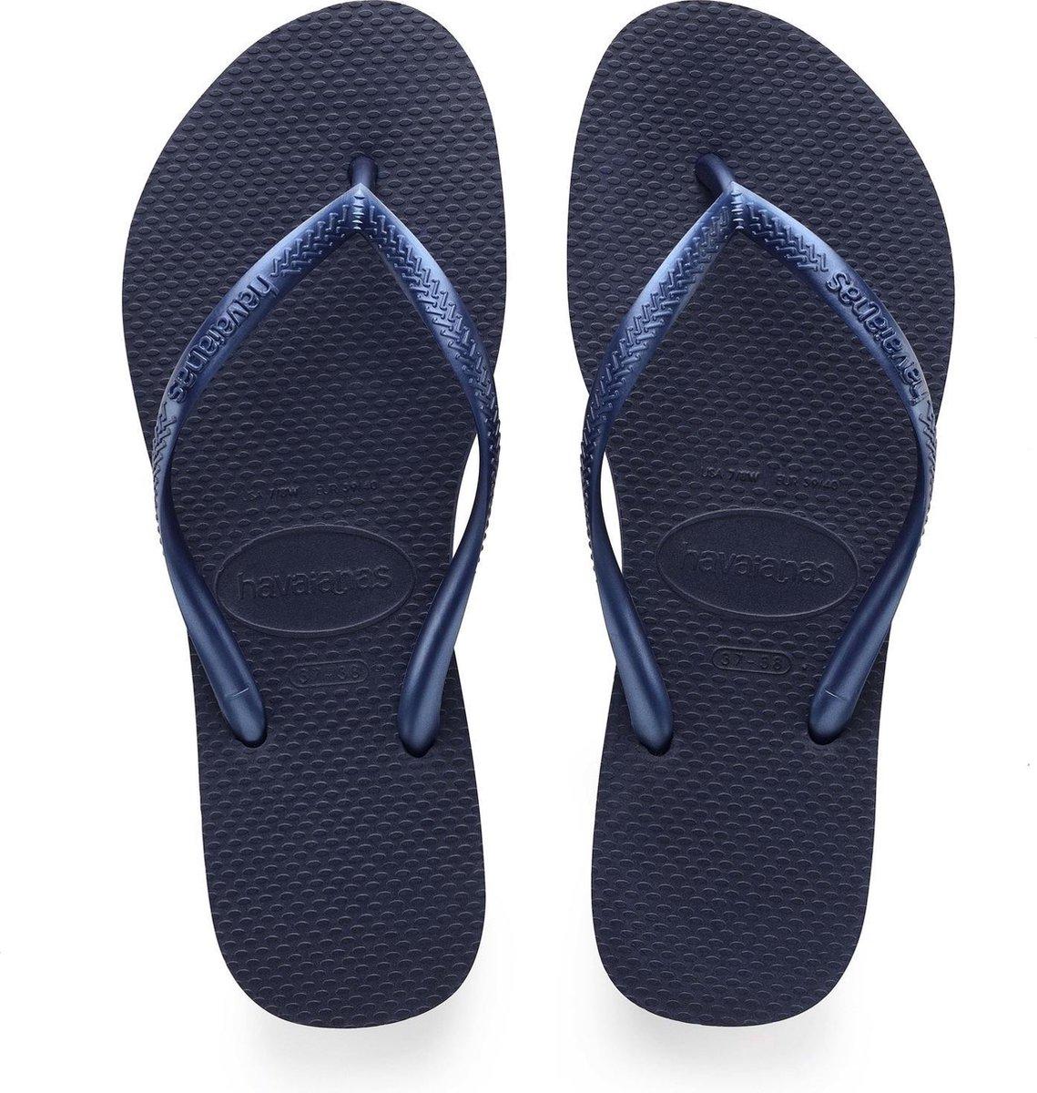 Havaianas Slim Dames Slippers - Navy Blue - Maat 37/38