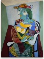Handgeschilderd schilderij Olieverf op Canvas - Pablo Picasso 'Natalia met Hoed'