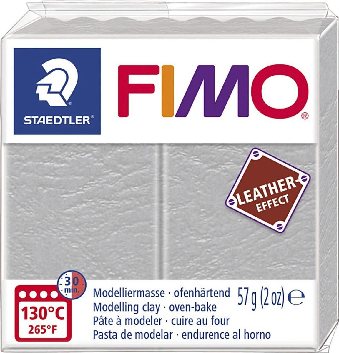 Fimo Effect leather 57 g duifgrijs 8010-809