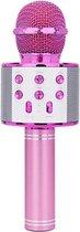 Karaoke Microfoon - Draadloos - Bluetooth Verbinding - Roze - Voor de gezelligste feestjes