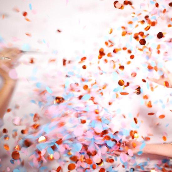 Gender Reveal Ballon met Roze en Blauwe Versiering confetti Boy or Girl Babyshower Decoratie Baby Shower Party