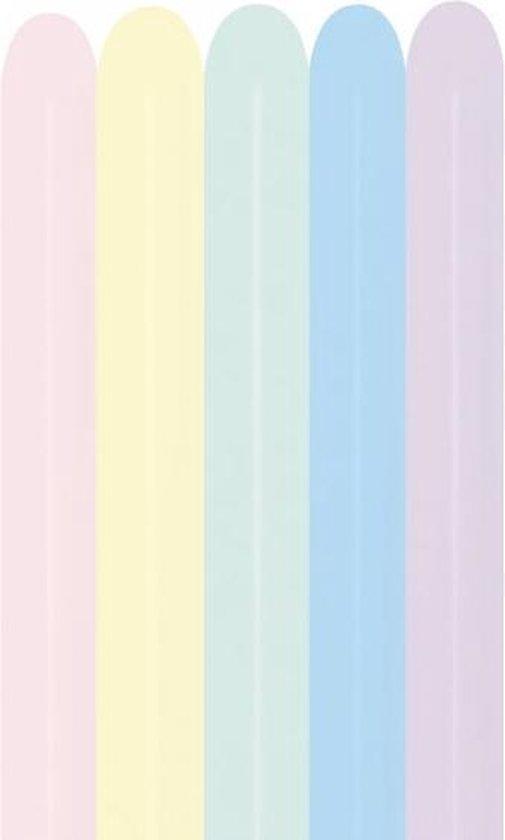 100 modelleer balonnen sempertex pastel