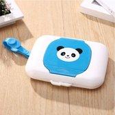 Baby doekjes houder / Natte, papieren handdoek doos / blauwe panda box, billen doekjes + 1 pak Zwitsal billendoekjes