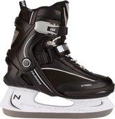 Nijdam 3350 IJshockeyschaats - Semi-Softboot - Zwart/Wit - Maat 39