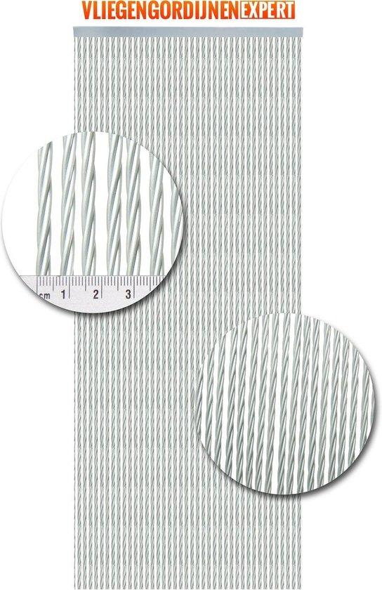 Vliegengordijnenexpert Napoli - Vliegengordijn - 92x210 cm - Zilver