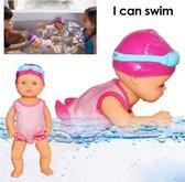 FlexToys Waterspeelgoed voor kinderen - Schattige non-silicone pop - nieuwe zwempop Ik kan zwemmen verjaardagscadeau