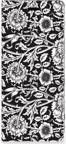 Sony Xperia 5 Smart Cover Black Flowers