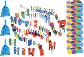 XXL Gekleurde Houten Dominostenen Set - Met 1080 Domino Stenen & 45 Elementen - Dominoset 1131-Delig