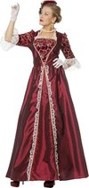 Markiezin taft jurk middeleeuwen bordeaux Maat 46