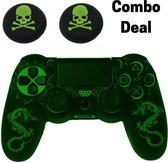 PS4 Controller Silicone Hoes Playstation 4 - Dragon Groen - KELERINO.