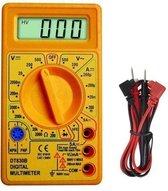 Digitale Multimeter incl. 9 Volt batterij geel