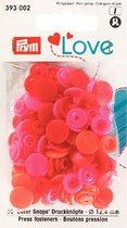 Prym Love Color snaps drukknopen 12,4 mm rose/rood
