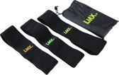 LMX Weerstandsbanden set 3 - Hip Bands - met anti-slip - Zwart - Senior