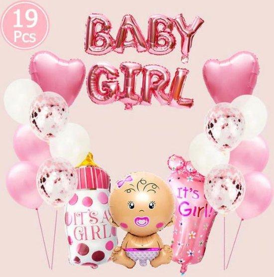 """WiseGoods - Premium Luxe Babyshower Helium Ballonnen """"Meisje"""" - Luxe Babyshower Versiering - Geboorte Versiering -"""