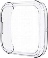 Full Cover Bumper voor Fitbit Versa 2 – Siliconen Case Screenprotector Bescherming Hoesje – Transparant