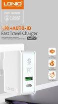 30W Oplader met USB C + USB A inclusief USB C kabel Snellader - Fast Charger
