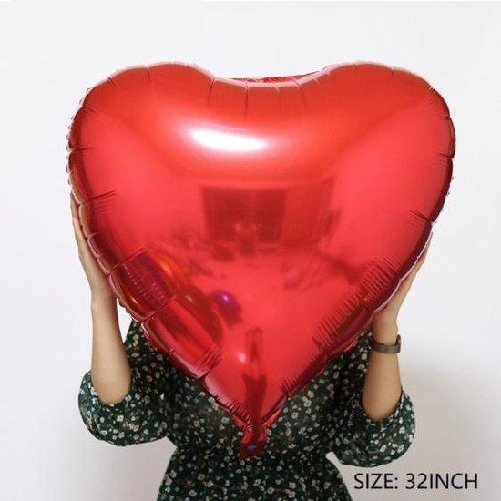 Folieballon groot ROOD hart voor Huwelijk,Valentijn en de Liefde
