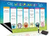 Magnetisch Weekplanner whiteboard (9) - A3 - Planbord - Dagplanner kind - To Do Planner kinderen