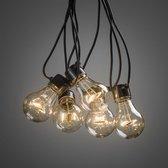 Konstsmide 2378-800 ®  - Snoerverlichting - Premium feestverlichting 10 lamps  met 80 extra warmwitte LED - zeer energiezuinig en duurzaam - 4.5m verlichte snoerlengte - 10m aansluitsnoer -  24V  buitentrafo - spacing 50cm - voor buiten of binnen