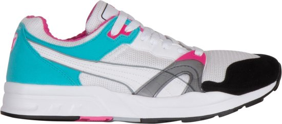 Puma Trinomic XT 1 Sneakers - Maat 43 - Unisex - wit/licht blauw/zwart/roze