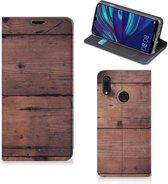 Huawei Y7 hoesje Y7 Pro (2019) Book Wallet Case Old Wood