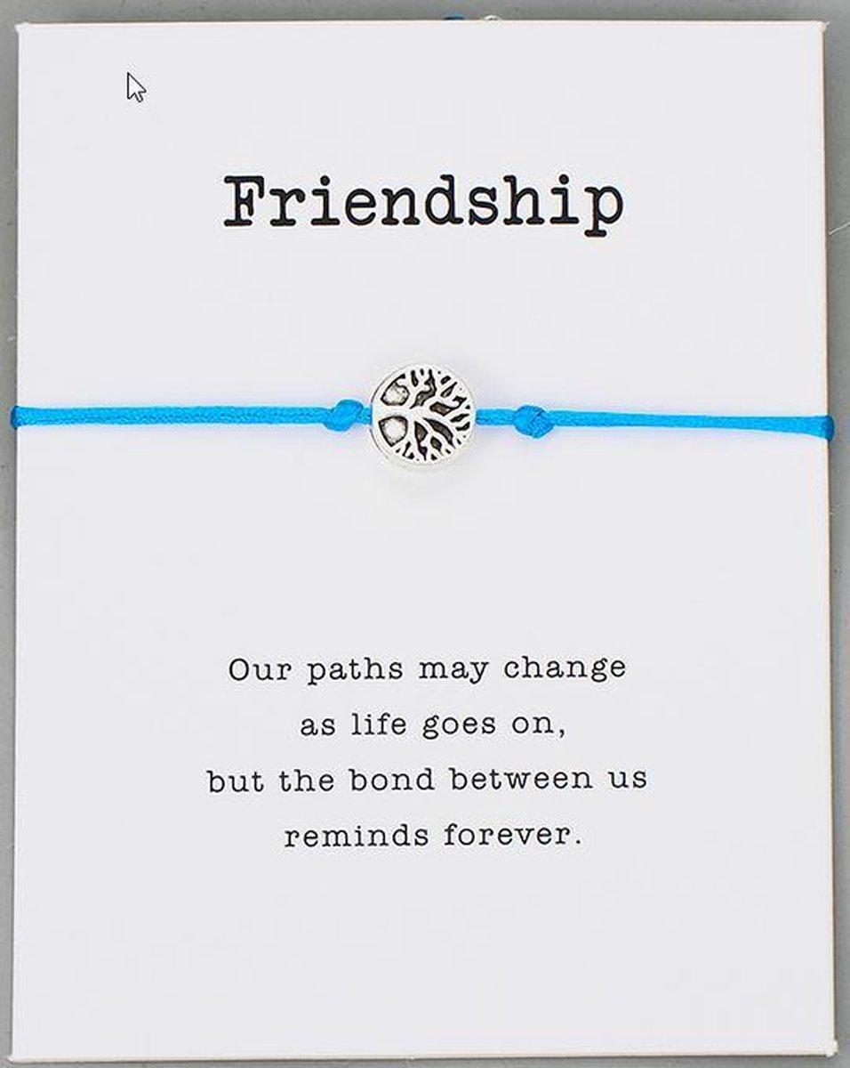 Vriendschap armband - BFF - blauw - best vriends