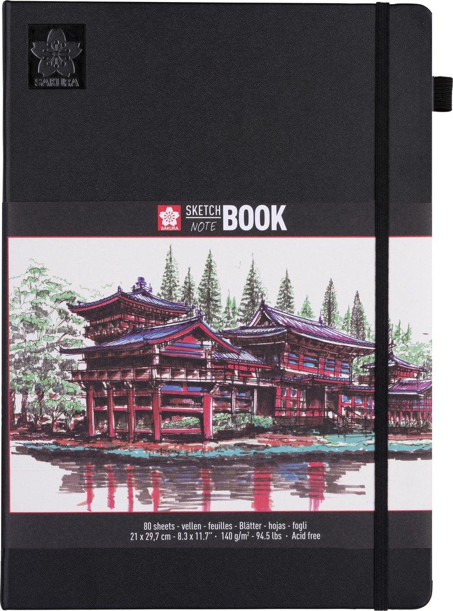 Sakura schets/notitieboek - A4 - cr me wit