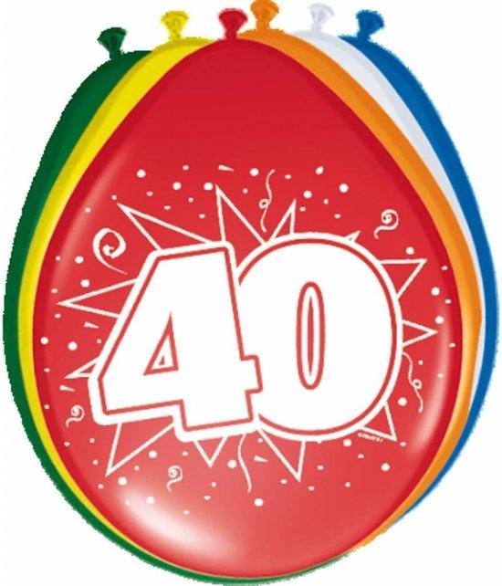 Ballonnen 40 Jaar 30cm 8 stuks