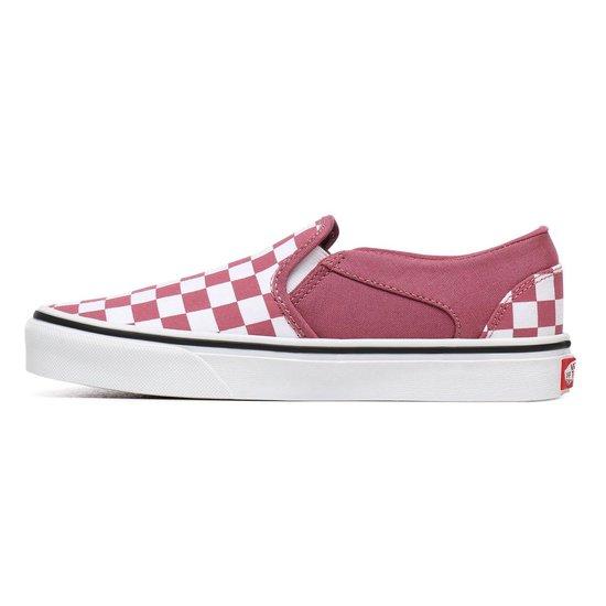 Vans Asher Checkerboard Dames Sneakers - Hethrroswht Maat 38.5 Z9iide
