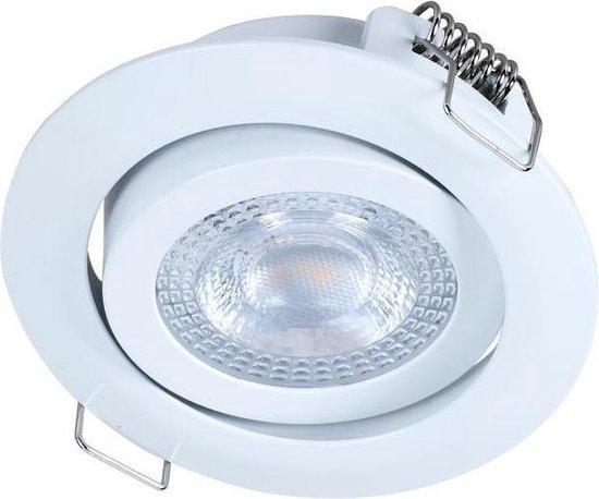 LED inbouwspot wit - 3W vervangt 25W - 3000K warm wit licht - Kantelbaar