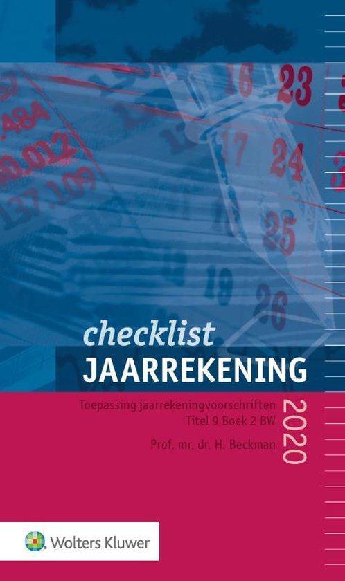 Checklist jaarrekening 2020 - H. Beckman |