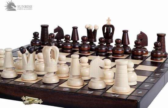 Afbeelding van het spel Sunrise New Line- schaakspel schaakbord schaakset 31X31cm.