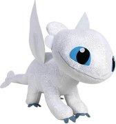 Dragon 3 How To Train Your Dragon wit 60 cm, Dragon knuffel 60cm XLlLight Fury plush How to train your dragon Hoe tem je een draak Origineel met licentie  60cm lang en 40cm hoog