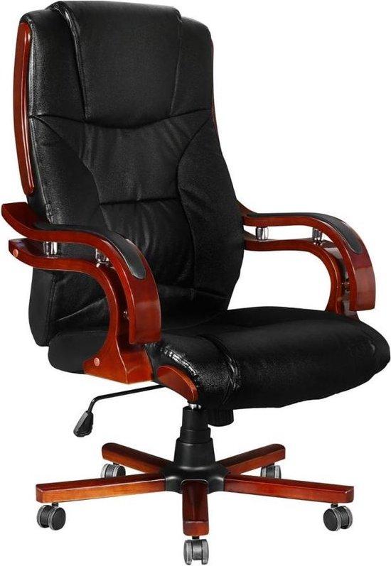 vidaXL Bureaustoel Zwart Directiestoel Werkstoel