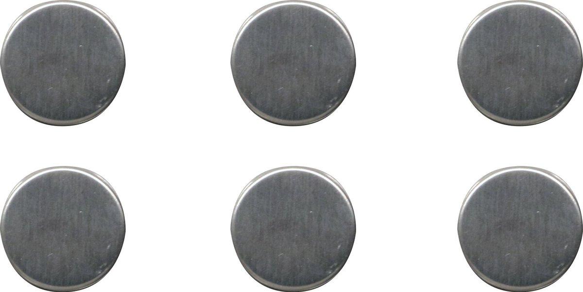 COMPACTOR Magneten Rond 2,5 Cm Staal Zilver 6 Stuks online kopen