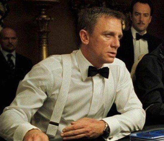 Witte bretels - gedragen door James Bond - Albert Thurston