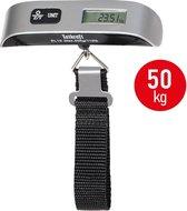 Digitale Bagageweegschaal Met Weeghaak & Thermometer - Koffer Weegschaal Bagage Kofferweger - Hang Weegschaal Met Batterijen - Tot 50KG