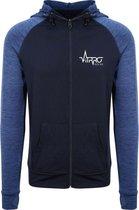 FitProWear Sportvest Blauw - Maat M - Heren - Sportkleding - Trainingskleding - Polyester - Dri Fit - Vest - Zoodie - Hoodie