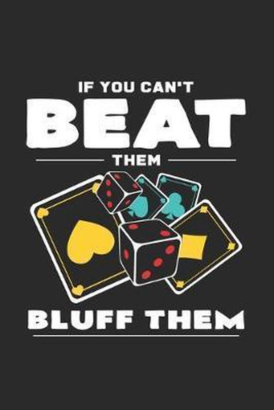 Beat them bluff them: 6x9 Poker - grid - squared paper - notebook - notes