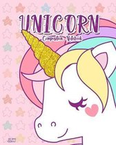 Unicorn Composition Notebook: Wide Ruled for Girls Kids Elementary Student Teacher, 8 x 10 in, 100 pages
