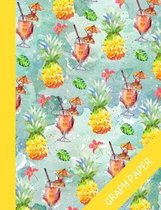 Pineapple: Graph Paper Notebook Wit Beautiful Tropical Design, Notebook For Math And Science, Quad Ruled, Perfect For School