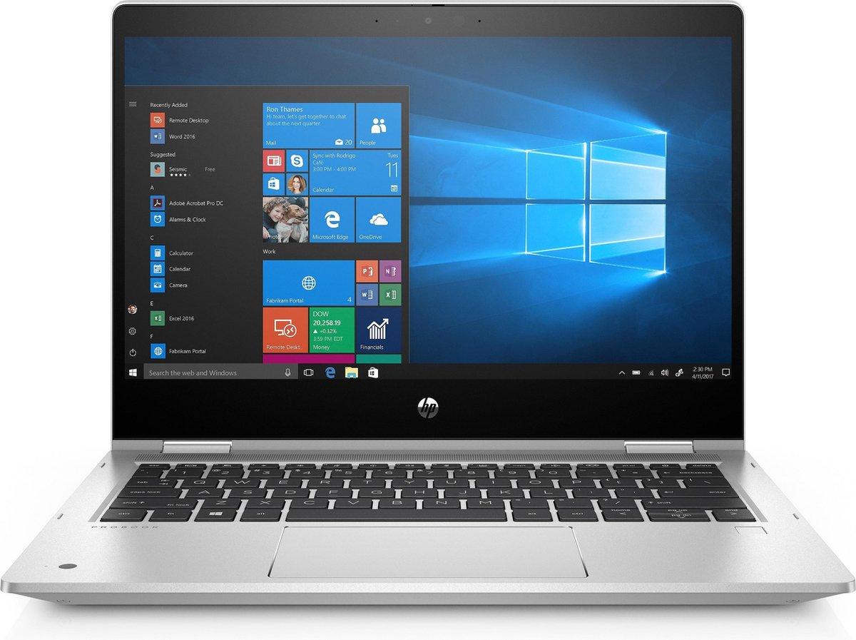 HP ProBook x360 435 G7 Hybride (2-in-1) Zilver 33,8 cm (13.3) 1920 x 1080 Pixels Touchscreen AMD Ryzen 5 8 GB DDR4-SDRAM 256 GB SSD Wi-Fi 6 (802.11ax) Windows 10 Pro